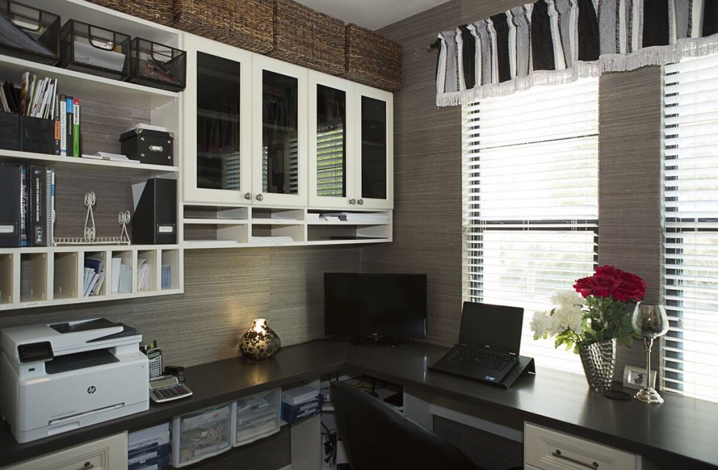 luxurious custom office storage Scottsdale