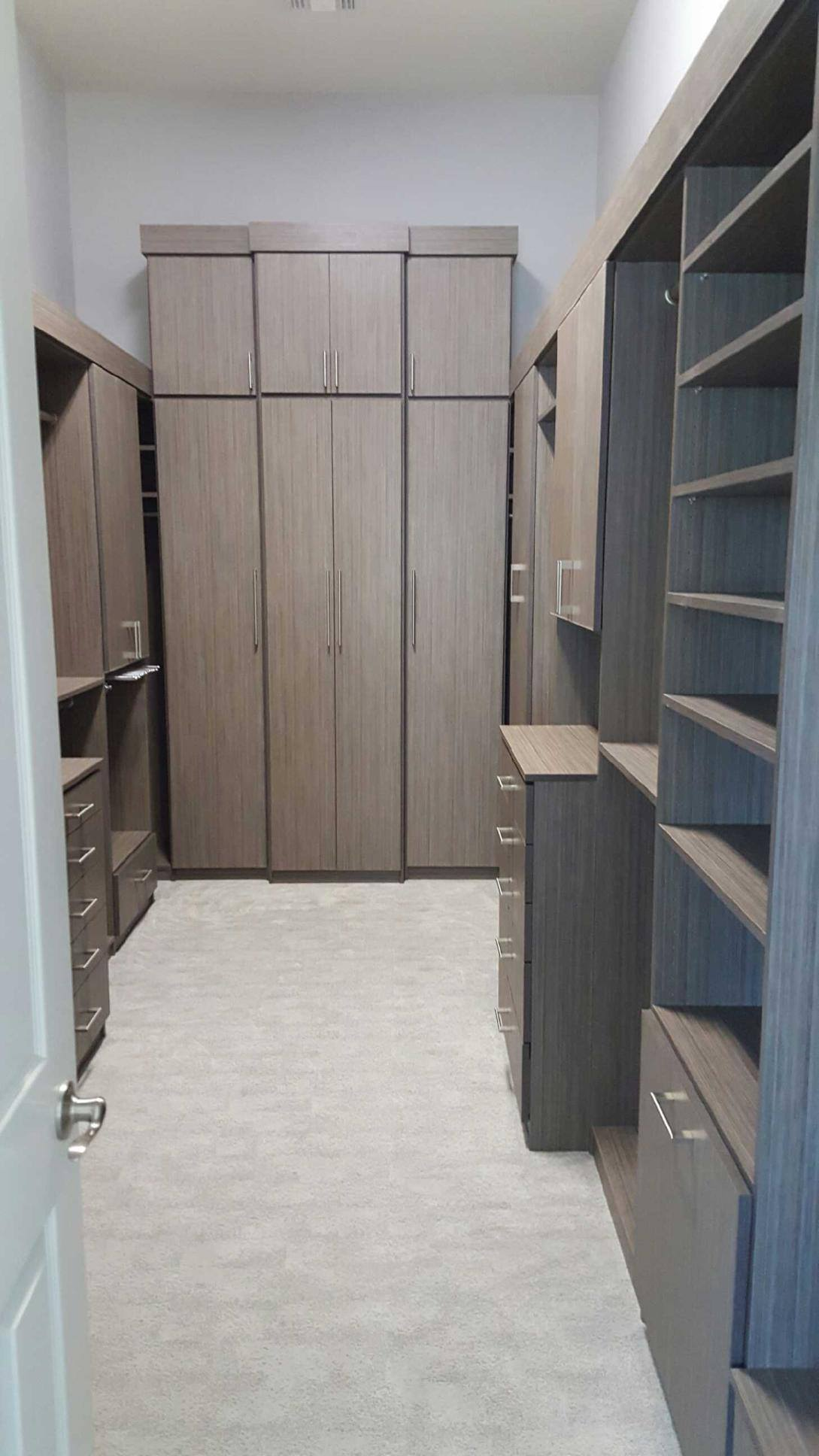 custom closet scottsdale with textured wood