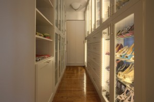 Luxurious lighted walk-in shoe closet Scottsdale