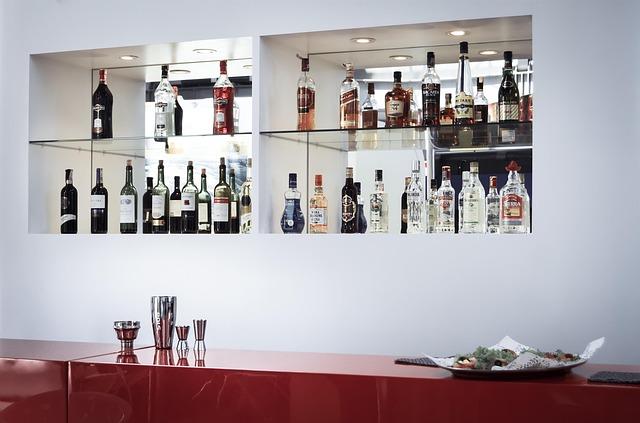 Minimal organized bar area