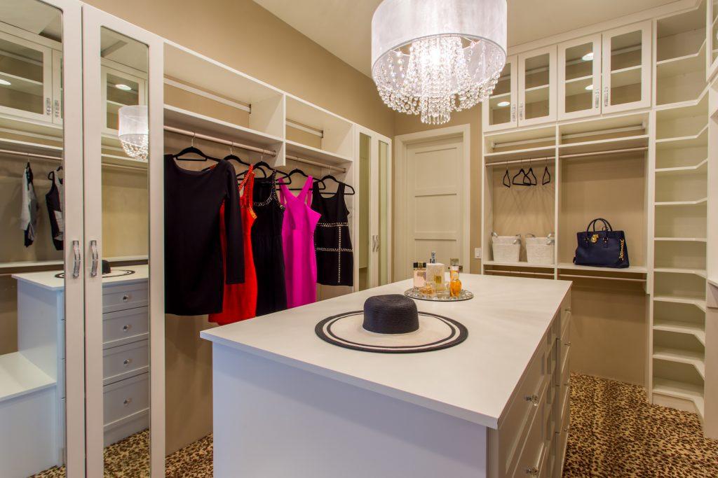 Elegant and bold custom closet