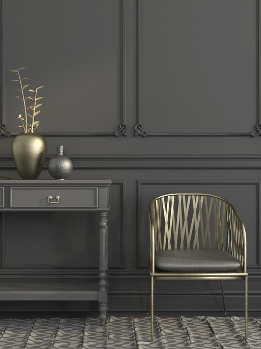 Gray home interior