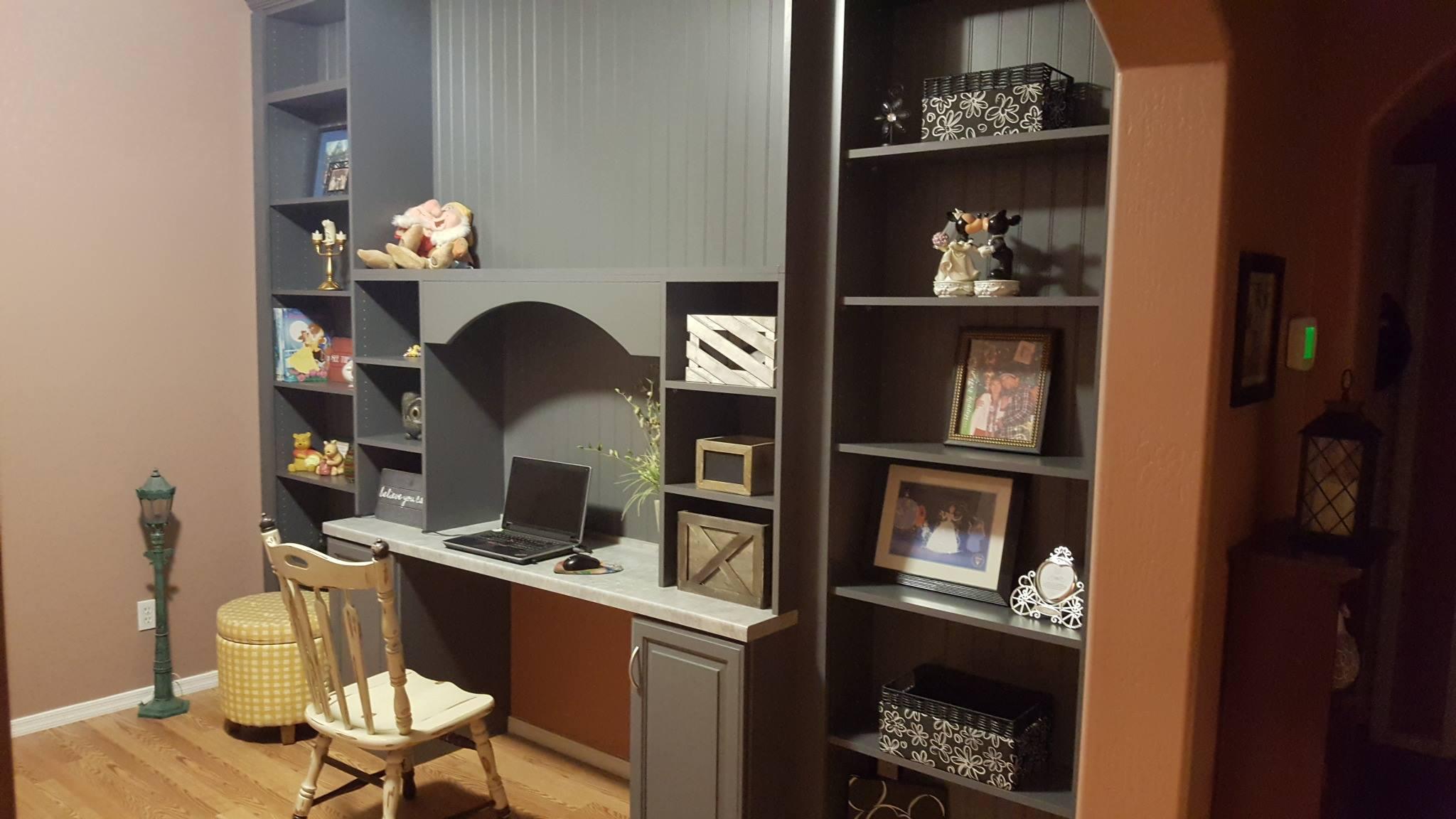 Office built-in shelving Scottsdale