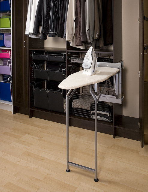 Drop down ironing board custom closet