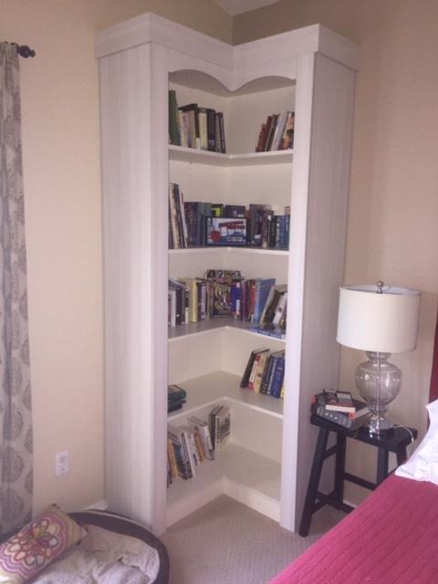 white built-in bookcase Scottsdale