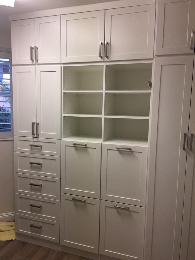 Custom sun city laundry room cabinets
