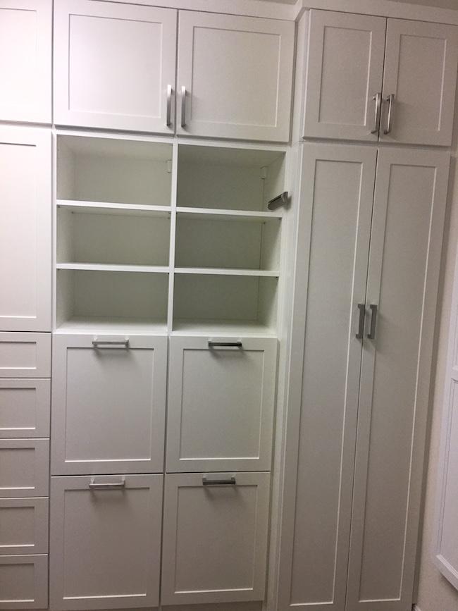 built-in laundry storage valet rod Scottsdale