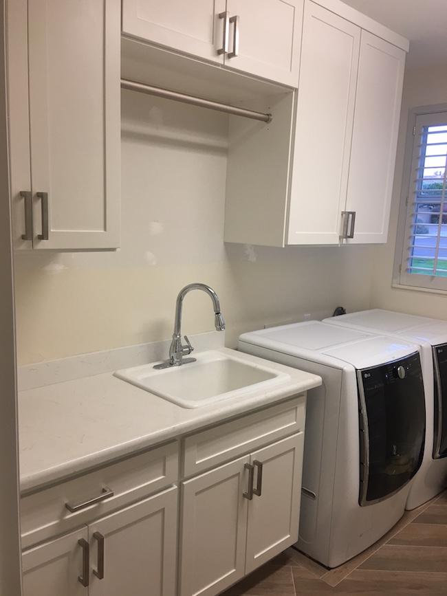 Full view custom laundry cabinets Phoenix