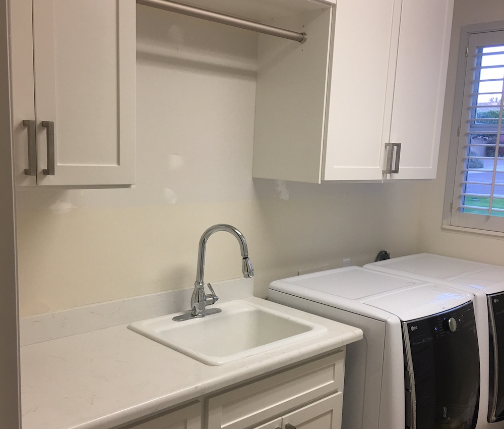 laundry room cabinets with hanging rod Phoenix