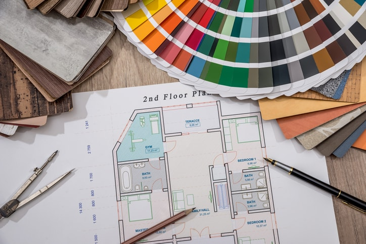 interior design swatches and samples