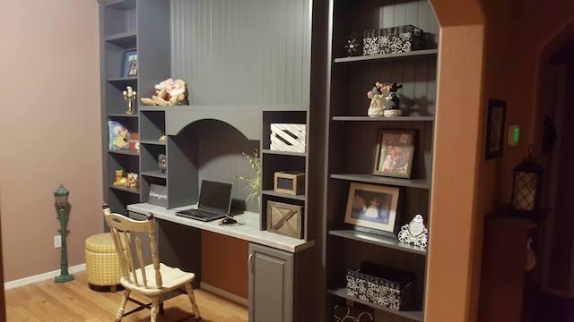 custom grey office shelving Peoria, AZ