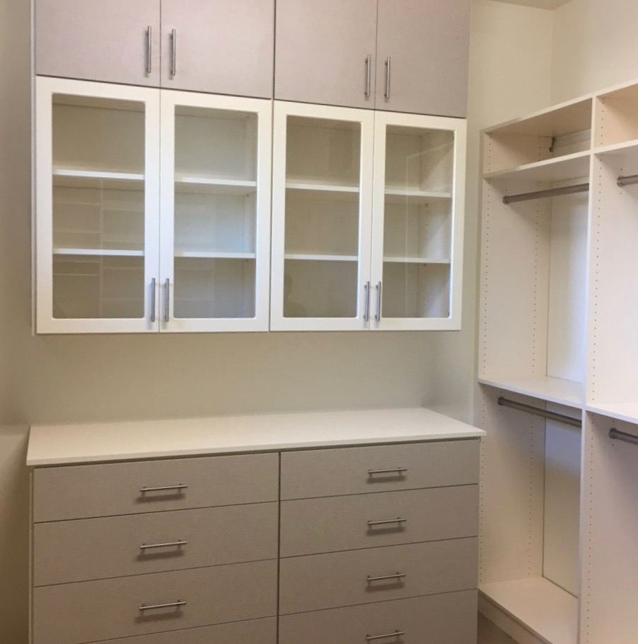 two-tone custom closet system in Phoenix, AZ