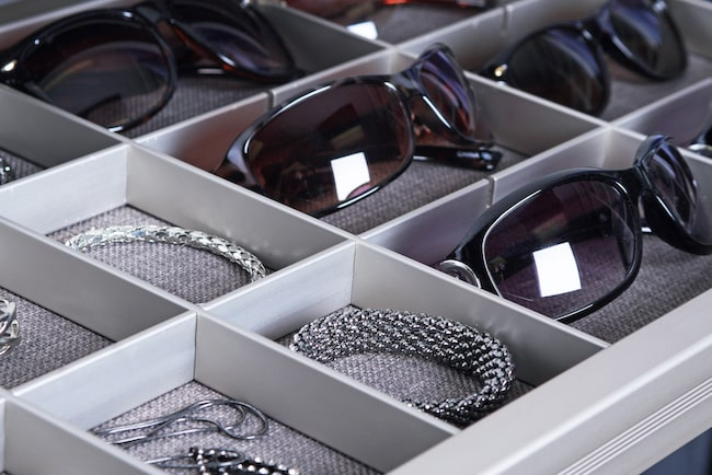 Closet custom jewelry inserts from TAGHardware
