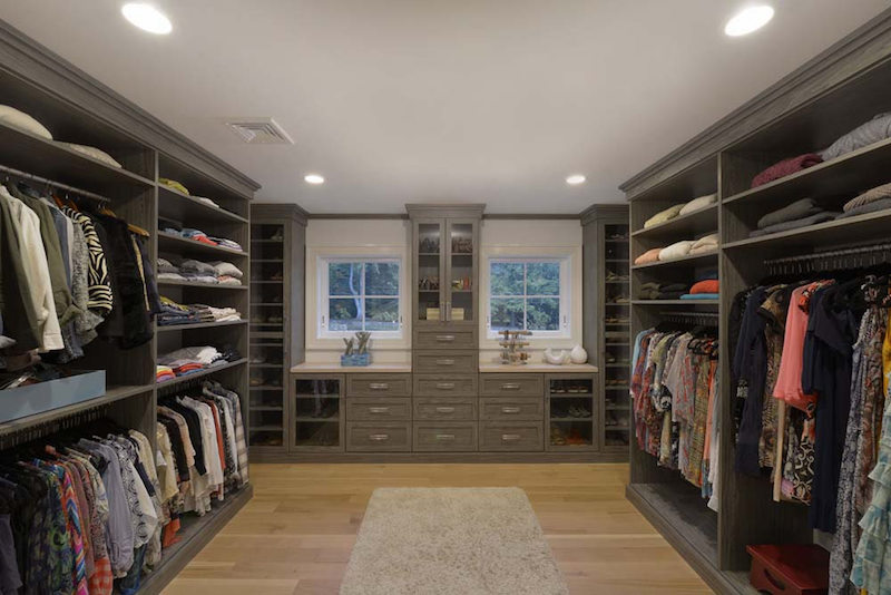 luxurious wood custom closet walk-in Phoenix