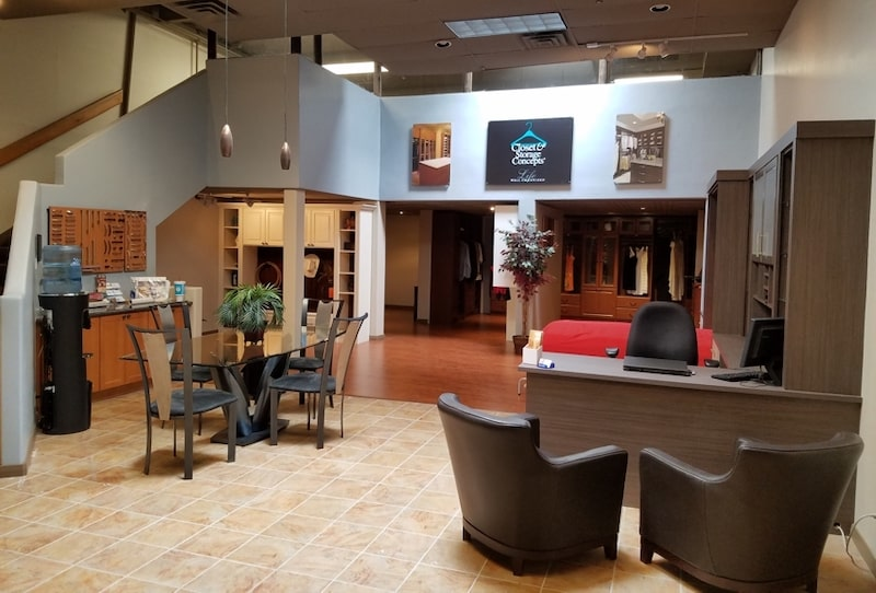 Inside view of Scottsdale Closet & Storage Concepts showroom