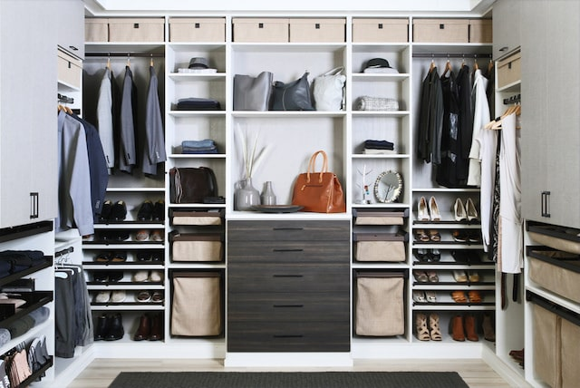 contemporary custom walk-in closet Phoenix, AZ