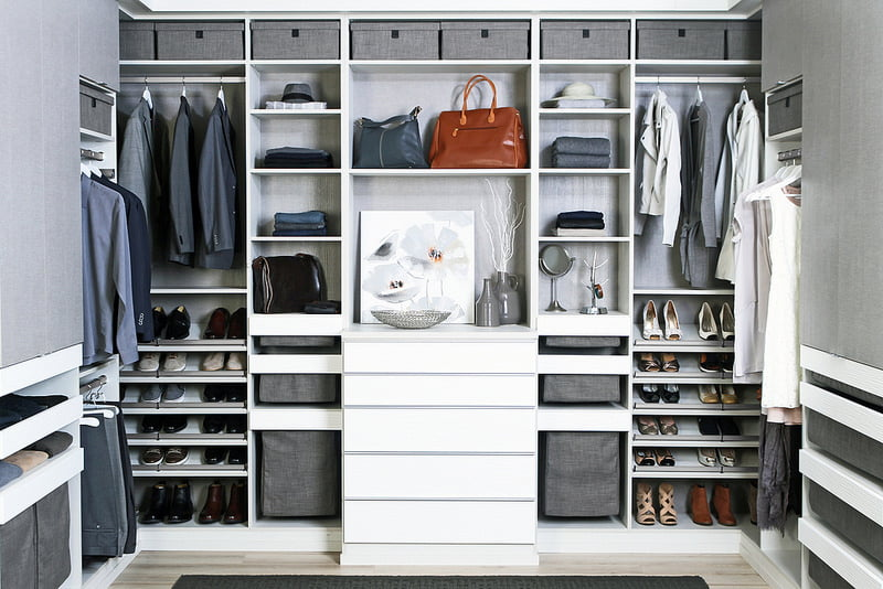 Full modern custom closet from TAGHardware