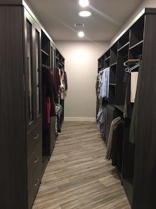 narrow walk-in custom closet Cave Creek AZ