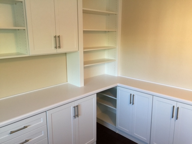 custom home office storage corner unit