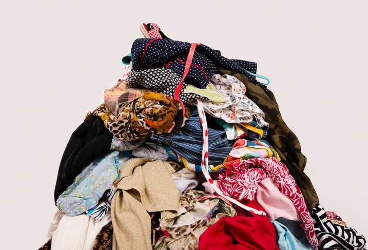 pile of womens clothes