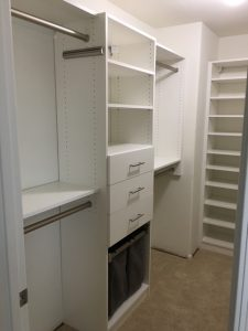 small walk-in closet built-in Phoenix, AZ in White