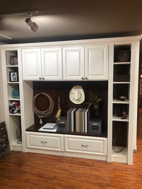 mudroom cabinets display in Scottsdale showroom