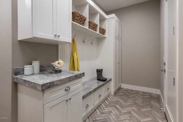 luxe custom mudroom storage cabinets Phoenix