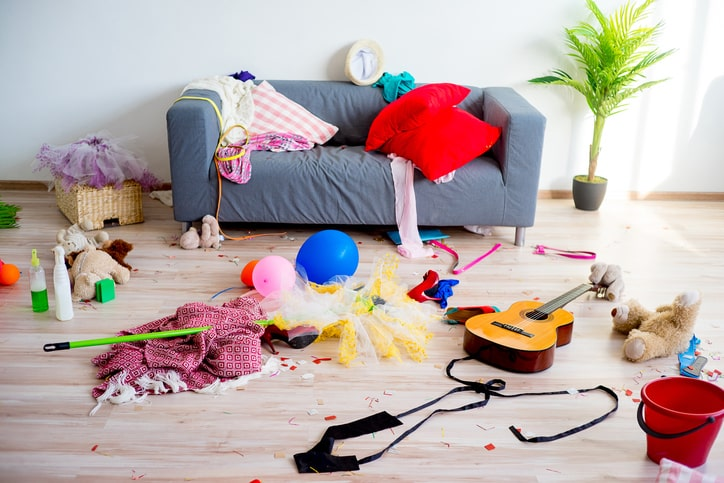 messy kids room with toys on floor