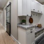 custom mudroom storage bench Phoenix, AZ home