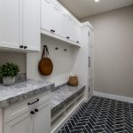built-in mudroom cabinets