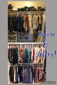 before and after closet system hanging storage Phoenix, AZ