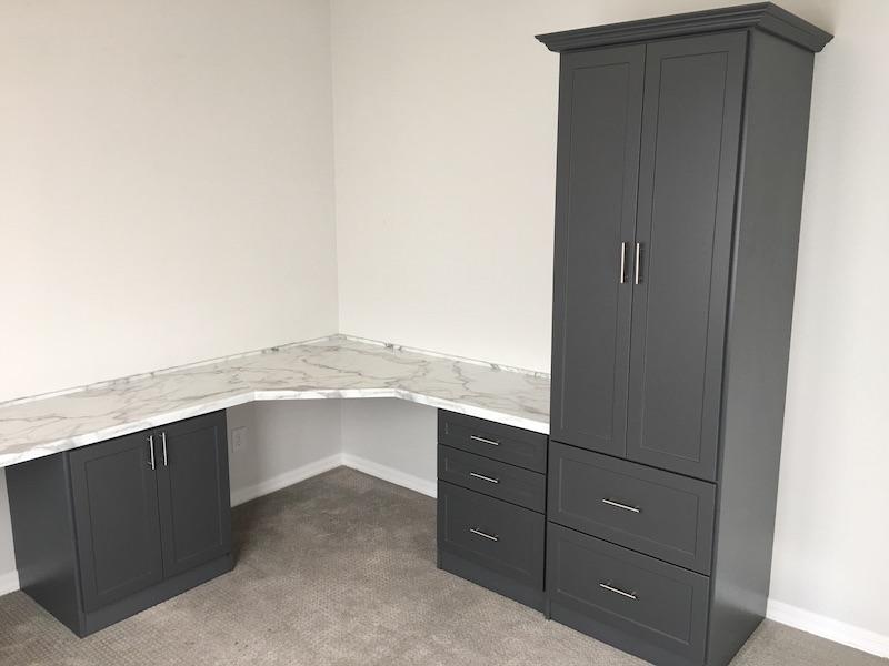 contemporary corner office cabinets Phoenix AZ