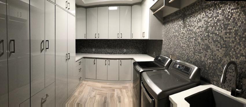 custom laundry utility room storage space Phoenix