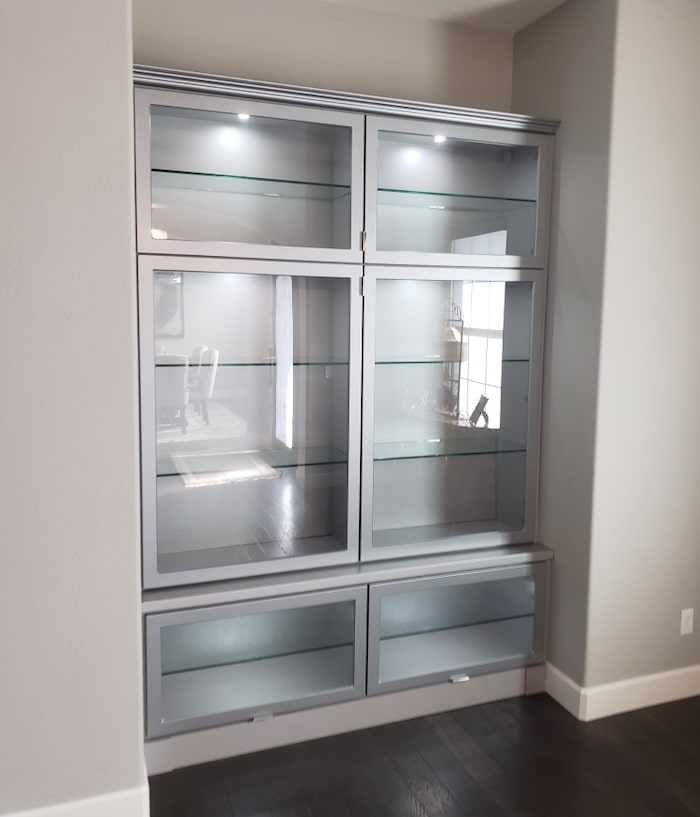 custom modern dining hutch storage Phoenix AZ