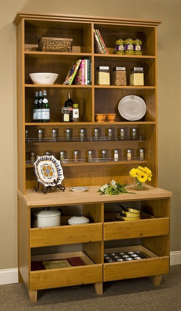 custom pantry dishware storage hutch cabinet