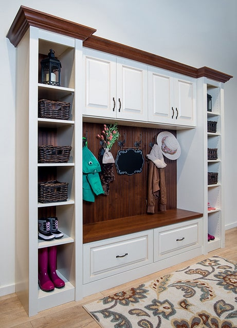 custom entryway cabinets for coats Phoenix