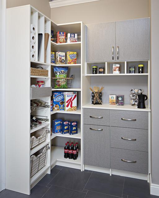 modern custom kitchen pantry shelving Phoenix, AZ