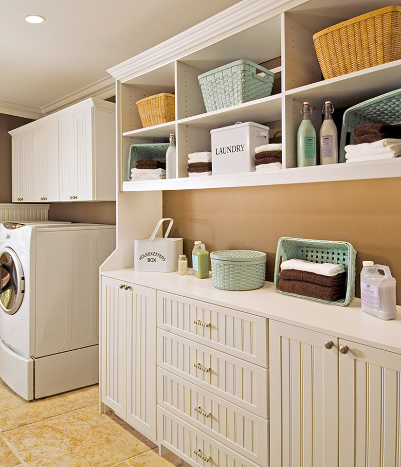custom laundry room storage