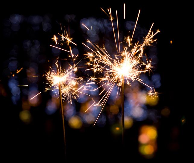 Fourth of July sparkler firework