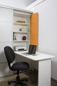 in-closet office closet and storage concepts