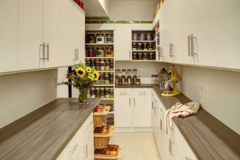 modern custom kitchen pantry storage