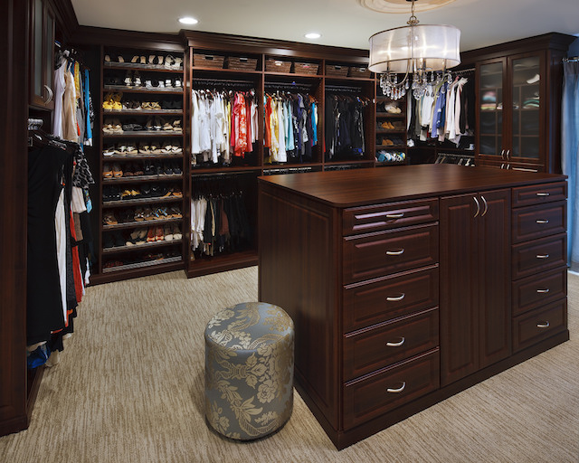 Traditional organized custom closet