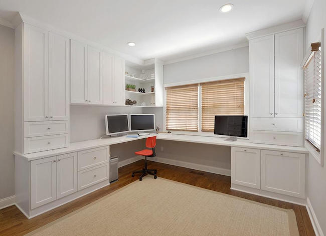 customized home office desks in white