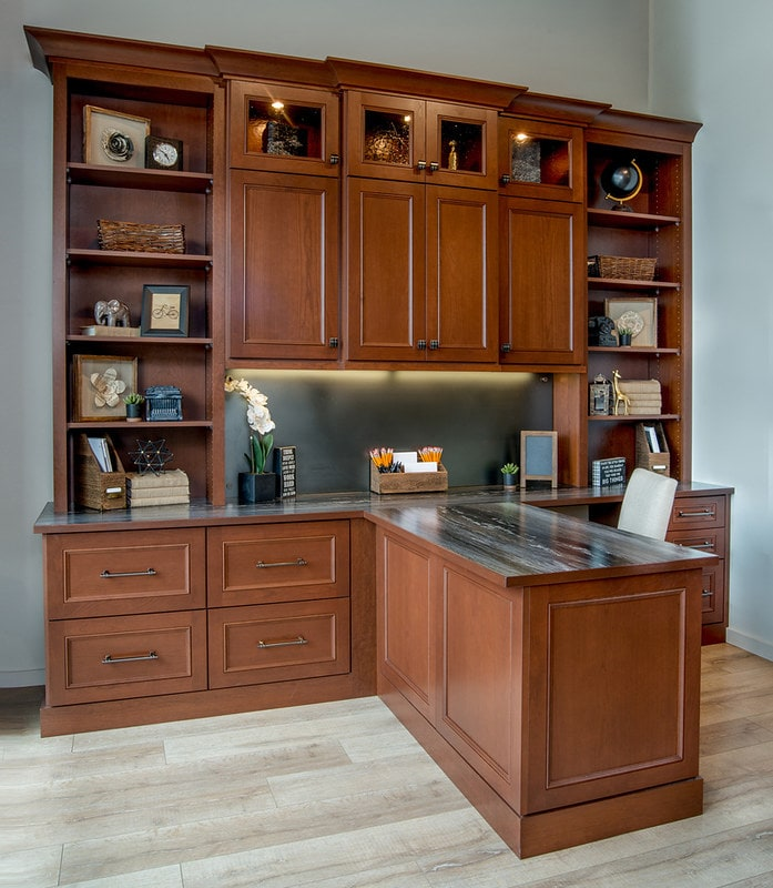 custom desk office storage