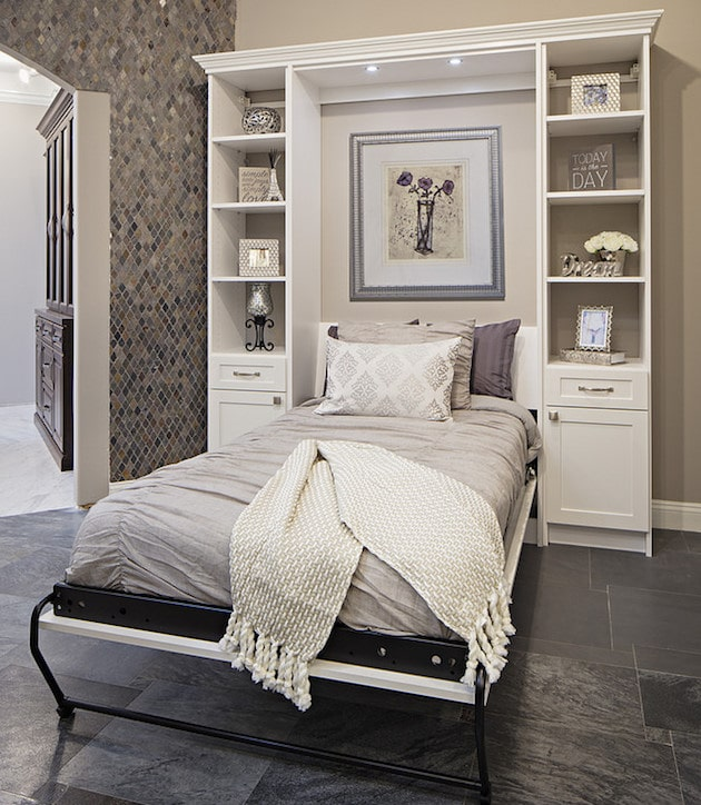 murphy wall bed system in white