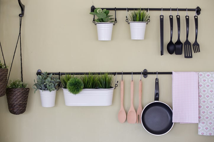 hanging kitchen organization and storage solution