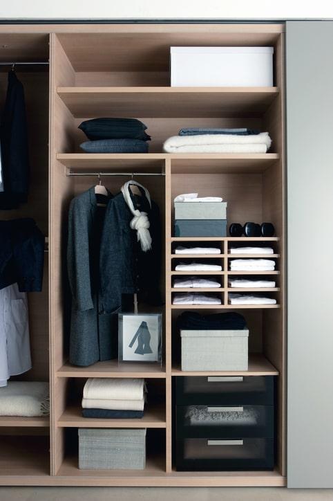 organized minimalist closet