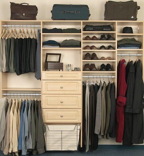 White adjustable closet system