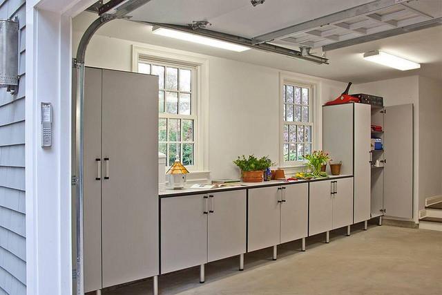 Organized garage storage system.