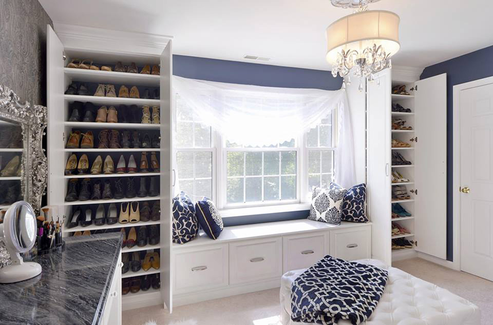 Custom Closet with Window Seat